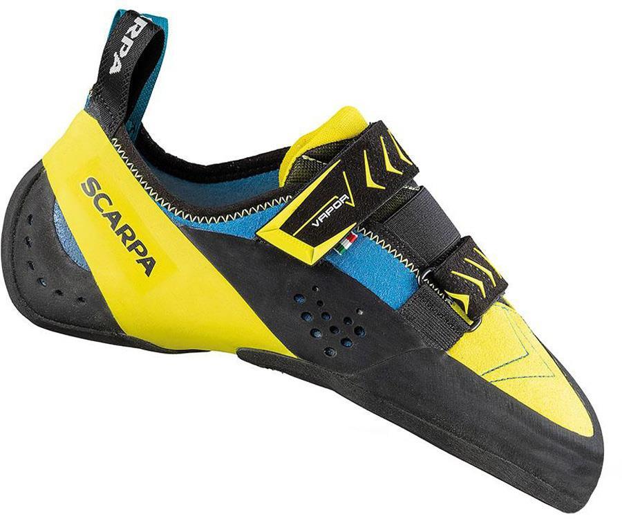 Scarpa Vapour V Rock Climbing Shoe : UK 6.5 | EU 40, Ocean Yellow