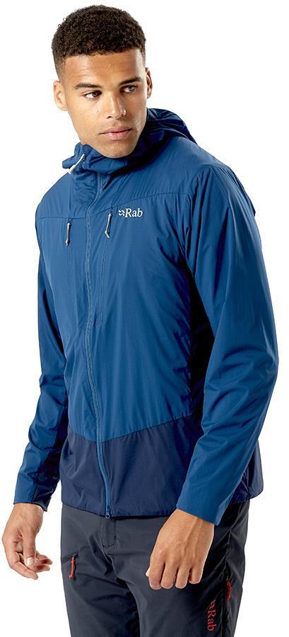 Rab Vapour-Rise Alpine Light Hooded Softshell Jacket, XL Deep Ink