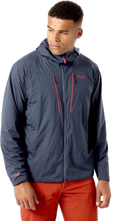 Rab Vapour-Rise Alpine Light Hooded Softshell Jacket, S Steel