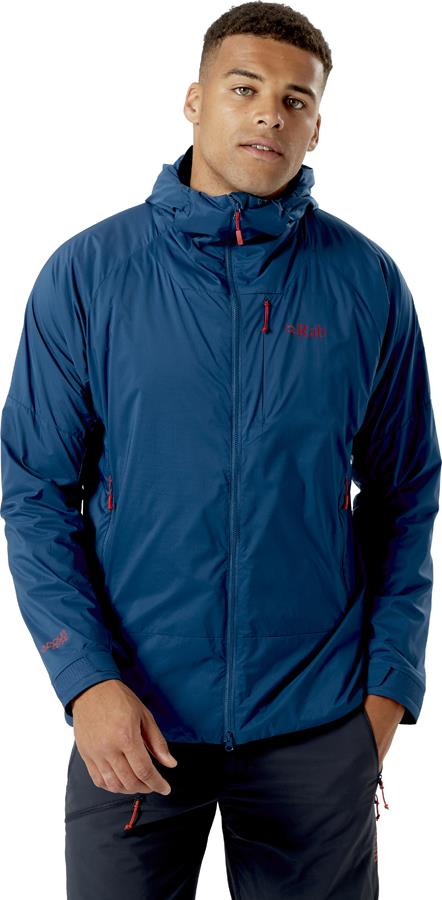 Rab Vapour-rise Summit Hooded Softshell Jacket, L Ink