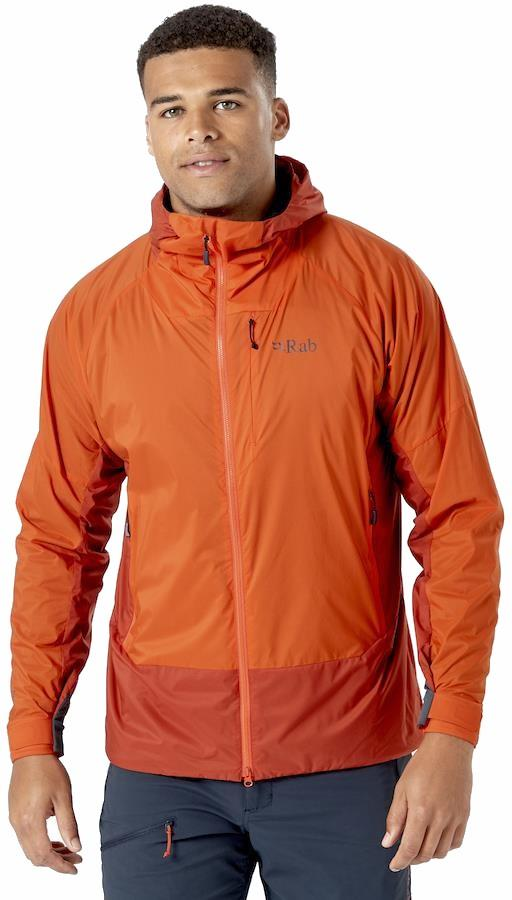Rab Vapour-rise Summit Hooded Softshell Jacket, L Red Clay