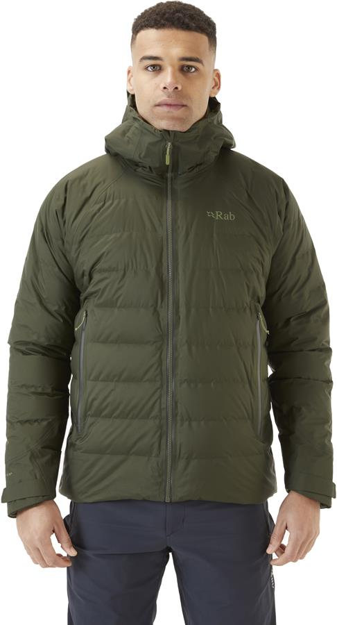 Rab Valiance Hooded Insulated Down Jacket, XL Army