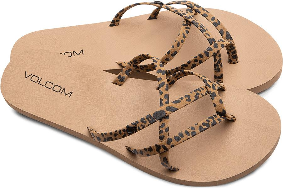 Volcom New School II Women's Open Toe Sandals, UK 6 Cheetah