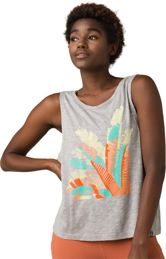 Prana Chez Tank Women's Yoga Top, M Grey Palm