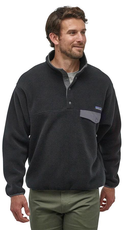 Patagonia Synchilla Snap-T P/O Men's LW Fleece Pullover M Black