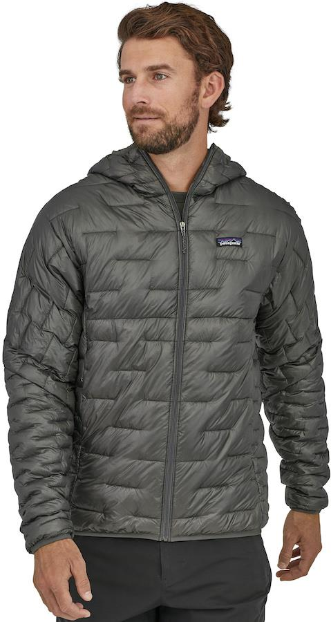 Patagonia Micro Puff Hoody Insulated Zip Up Jacket, XL Forge-Grey
