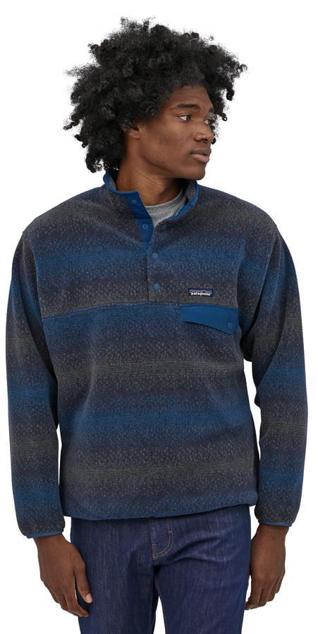 Patagonia Synchilla Snap-T P/O Men's LW Fleece Pullover S Gem Stripe