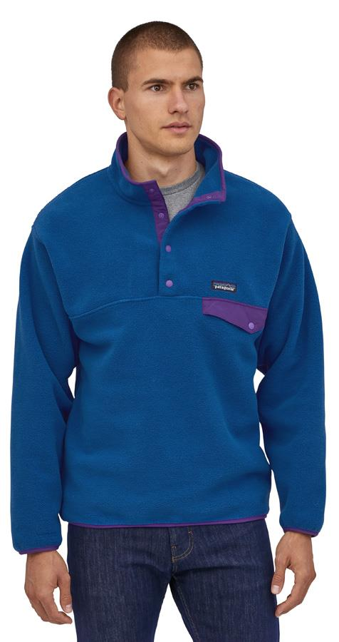 Patagonia Synchilla Snap-T P/O Men's LW Fleece Pullover M Blue