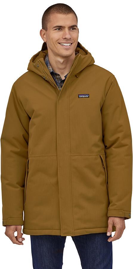 Patagonia Lone Mountain Parka Jacket, L Mulch Brown