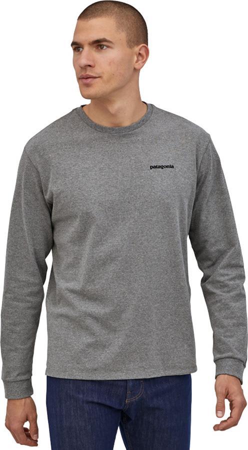 Patagonia P-6 Logo Responsibili-Tee Long Sleeve T-Shirt, XL Gravel