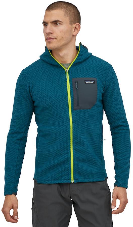 Patagonia R1 Air Full Zip Hoody Fleece Jacket, XL Crater Blue