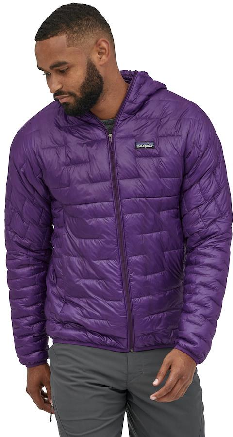 Patagonia Adult Unisex Micro Puff Hoody Insulated Jacket, M Purple