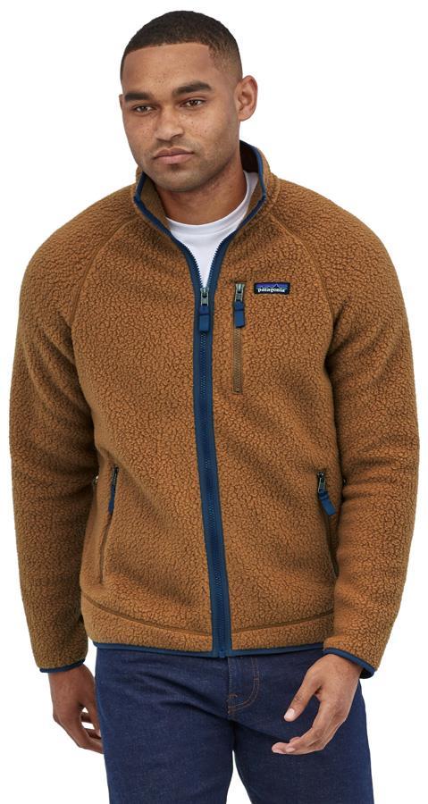 Patagonia Retro Pile Full Zip Fleece Jacket, M Bear Brown