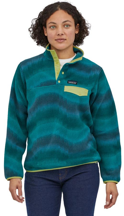 Patagonia Womens Lw Synchilla Snap-T Women's Pullover, Uk 10 Aurora