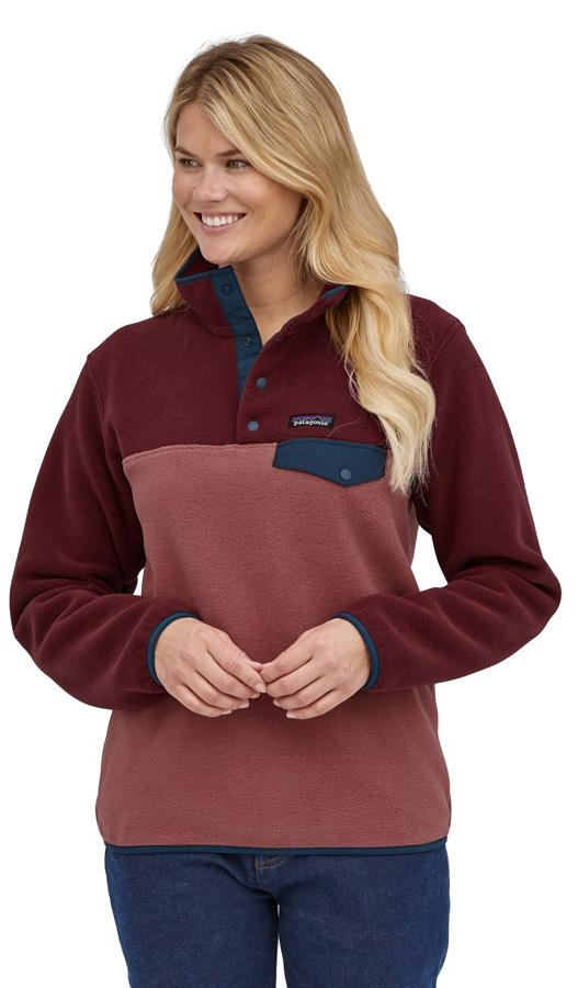 Patagonia Womens Lw Synchilla Snap-T Women's Pullover, Uk 10 Rosehip