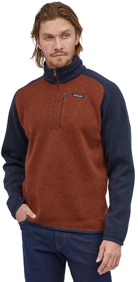 Patagonia Adult Unisex Better Sweater 1/4 Zip Pullover Fleece Jacket, Xl Barn Red