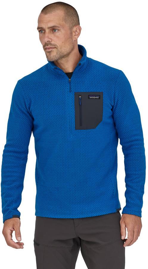 Patagonia R1 Air Zip-Neck Fleece Jacket, M Alpine Blue