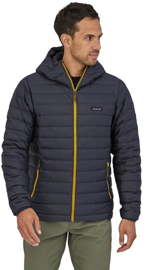 Patagonia Down Sweater Hoody Insulated Jacket, L, Smolder Blue