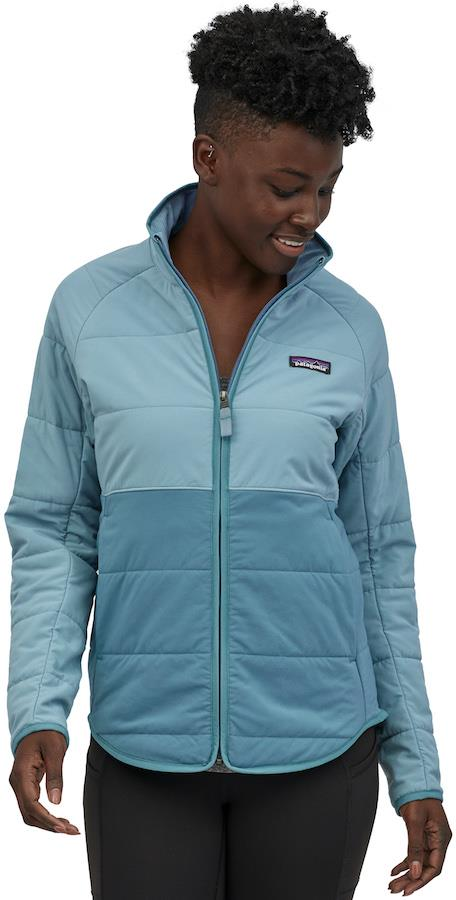 Patagonia Pack In Womens Insulated Softshell Jacket UK 12 Pigeon Blue