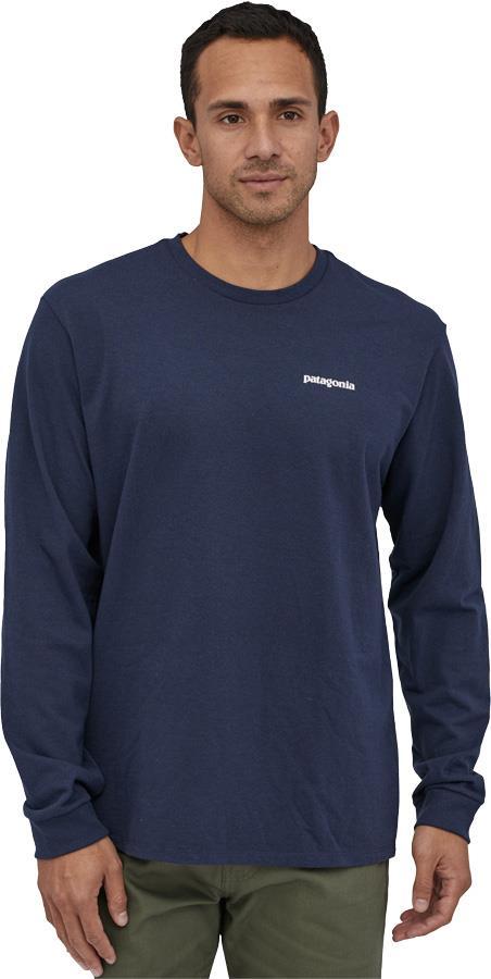 Patagonia L/S P-6 Logo Responsibili-Tee Long Sleeve T-Shirt, L Navy