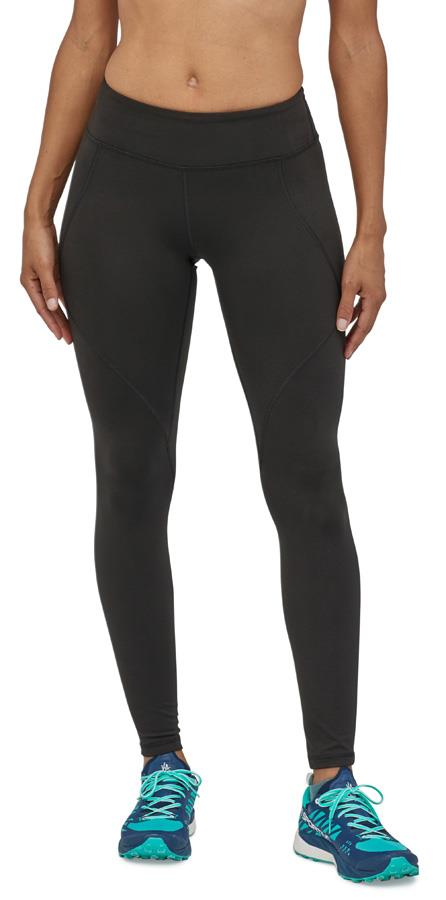 Patagonia Womens Centered Tights Women's Sports Leggings, Uk 10 Black