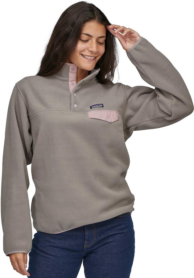 Patagonia LW Synchilla Snap-T Womens Pullover UK 10 Furry Taupe/Hazy