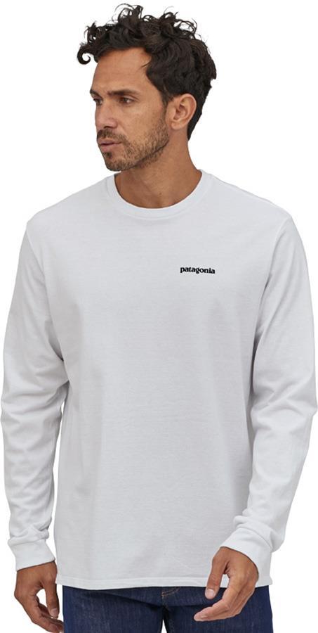 Patagonia Adult Unisex L/S P-6 Logo Responsibili-Tee Long Sleeve T-Shirt, Xl White