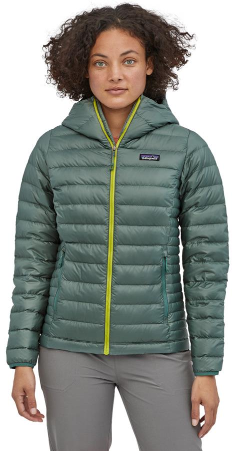 Patagonia Womens Down Sweater Hoody Jacket, UK 10 Regen Green