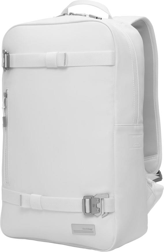 Douchebags The Scholar PU Leather Backpack, 17L Whiteout