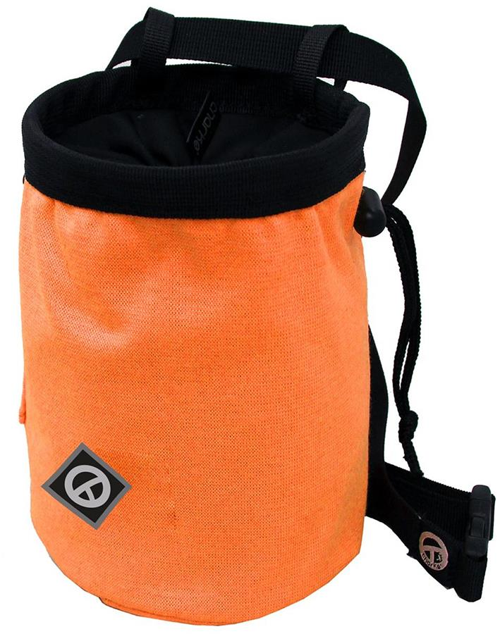 Charko Tube Rock Climbing Chalk Bag, Regular Fluo Orange