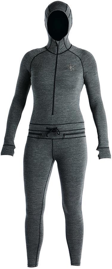 Airblaster Womens Merino Ninja Thermal Base Layer Suit, XS Black