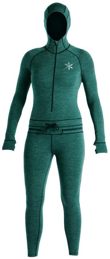 Airblaster Womens Womens Merino Ninja Thermal Base Layer Suit, M Night