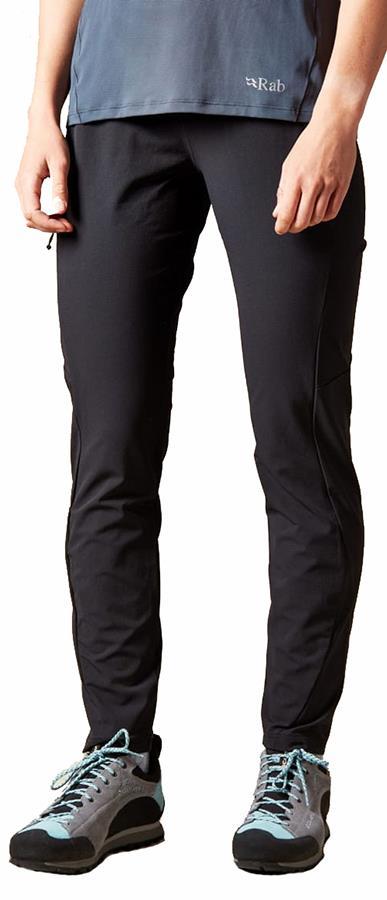 Rab Elevation Pants Reg Women's Climbing Trousers, UK 12 Black