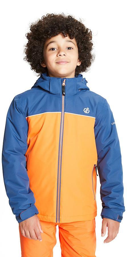 Dare 2b Impose Kid's Snowboard/Ski Jacket, Age 9-10 Orange/Denim