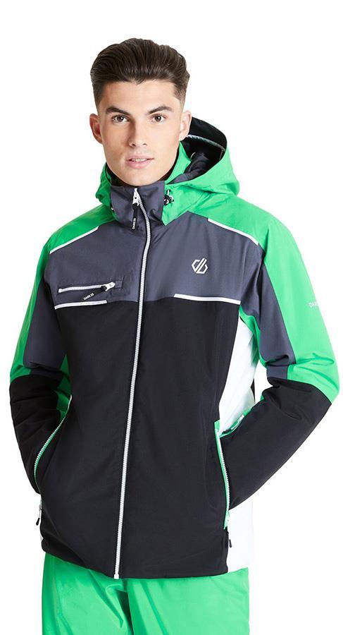 Dare 2b Intermit II Insulated Snowboard/Ski Jacket, M Black/Green