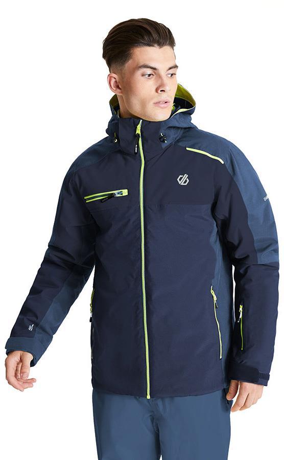 Dare 2b Intermit II Insulated Snowboard/Ski Jacket, XL Navy/Denim
