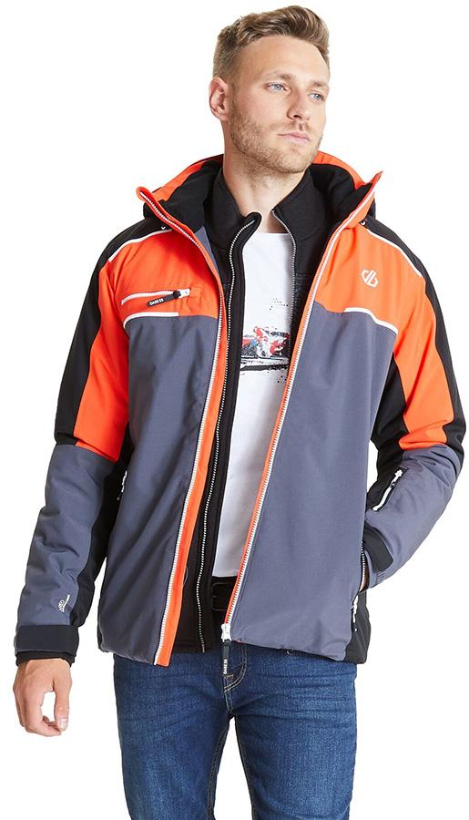 Dare 2b Intermit II Insulated Snowboard/Ski Jacket, L Blaze/Black