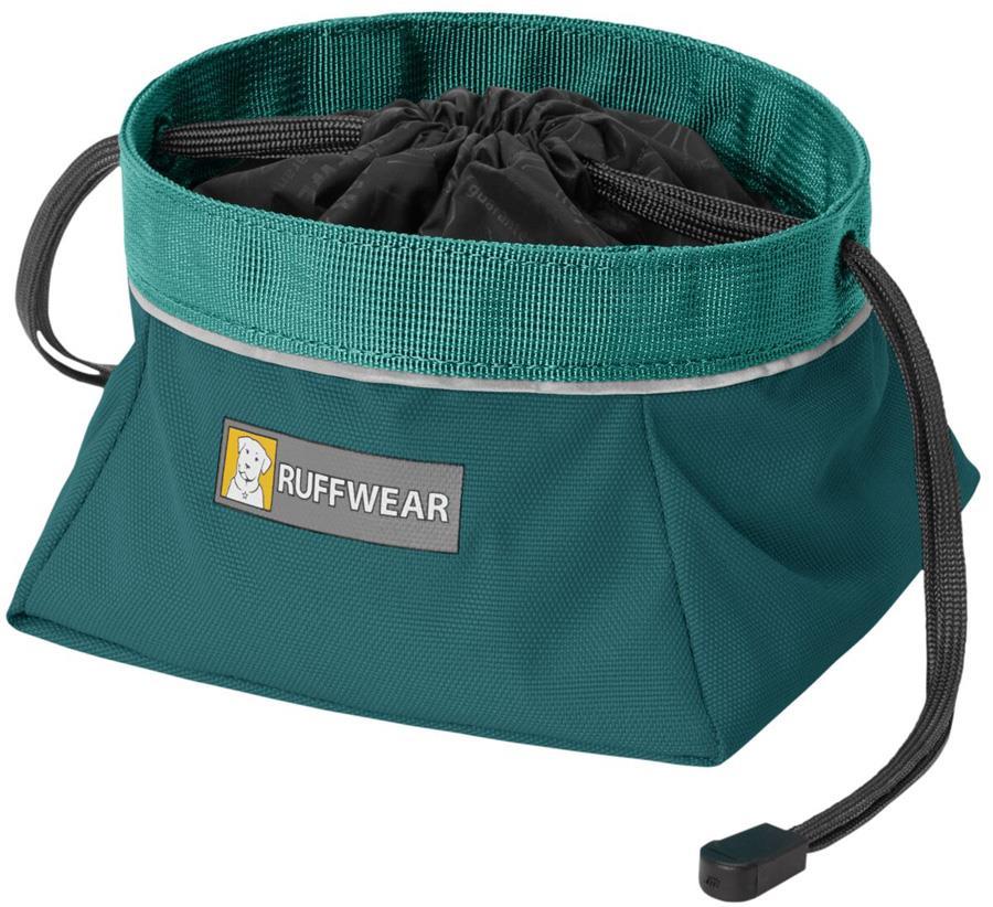 Ruffwear Quencher Cinch Top Travel Pet Bowl, M Tumalo Teal