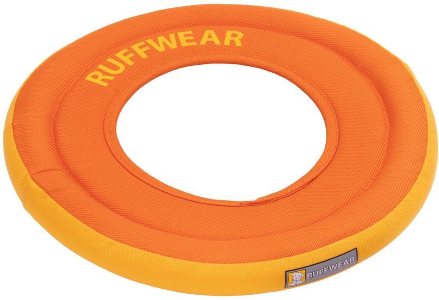 Ruffwear Hydro Plane Floating Dog Frisbee Toy, M Campfire Orange