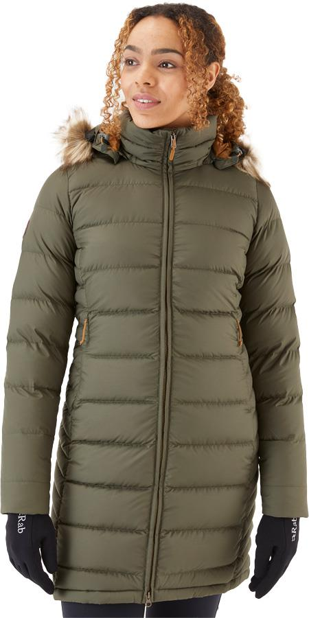Rab Deep Cover Women's Insulated Parka Jacket, UK 14 Army