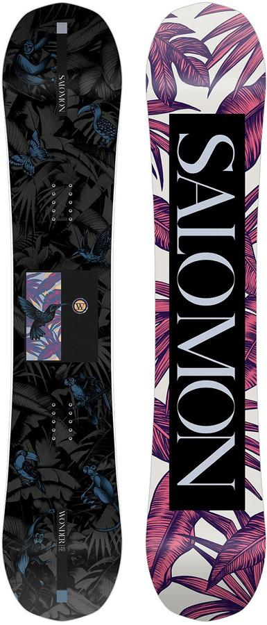 Salomon Wonder Women's Hybrid Camber Snowboard, 144cm 2021