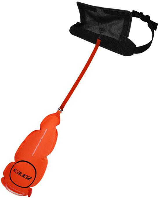 Zone3 Swim Safety Buoy & Belt Pouch Open Water Tow Float Orange