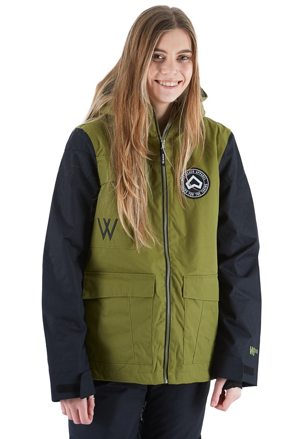 Westbeach Flux Women's Ski/Snowboard Jacket, L Combat Green