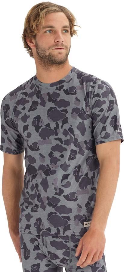 Burton Lightweight Tee Baselayer Shirt, S Grayscale Duck