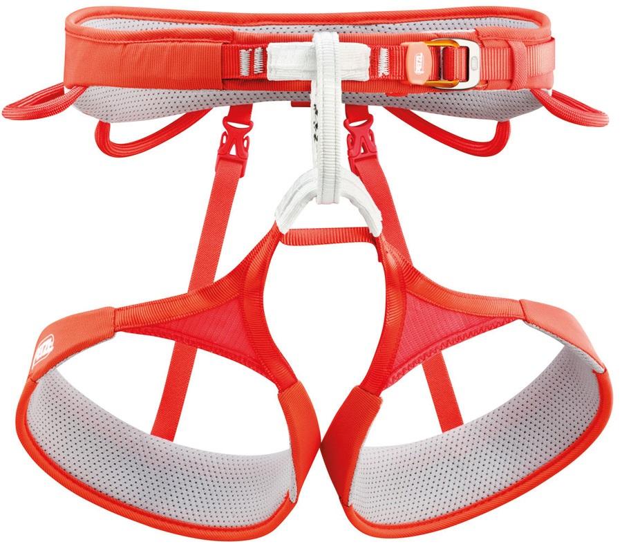 Petzl Hirundos Harness Adult Climbing Harness, M Red