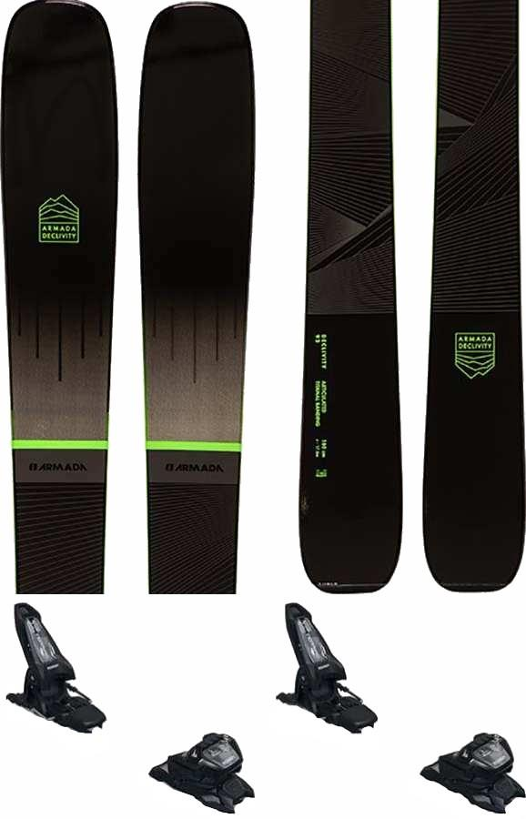 Armada Declivity 92 Ti | Griffon 13 ID Ski Package, 180cm Blk/Grn 2022