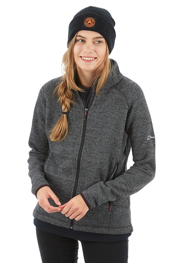 Berghaus Urra Women's Knitted Fleece Jacket, L Light Jet Black Marl