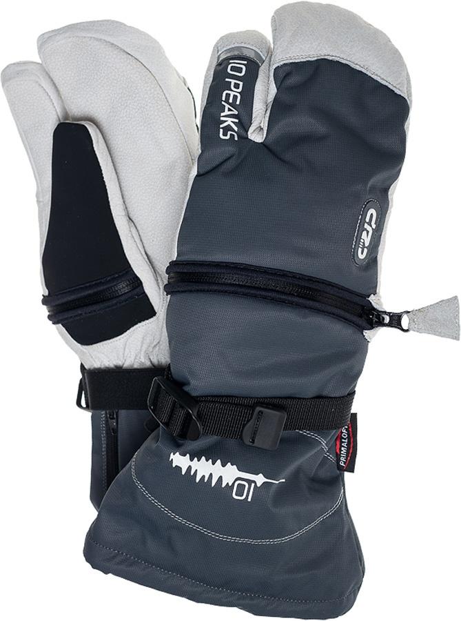 10 Peaks Mount Bowlen Ski/Snowboard Mitts, XL Grey/White