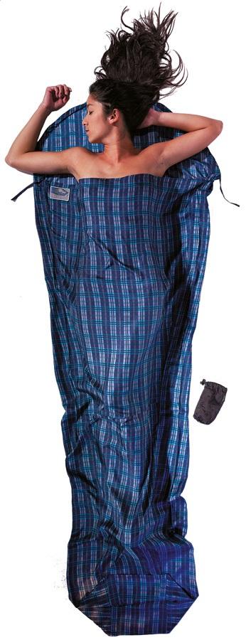 Cocoon MummyLiner Silk Ultralight Sleeping Bag Liner, Checked Silk