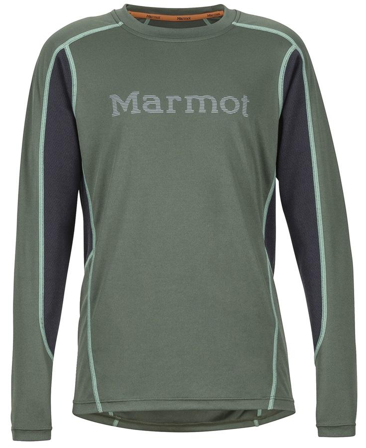 Marmot Boy's Windridge Graphic Technical LS Shirt, L Crocodile